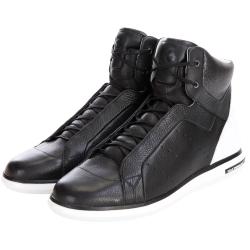 Y-3 Rade 拼接設計綁帶高筒運動鞋(黑色)
