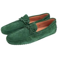 TOD'S 麂皮綁帶豆豆休閒鞋(男款/綠色)