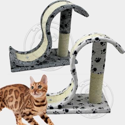DYY》貓用迷你溜滑梯毛絨貓跳台/貓爬架-44*20*36cm