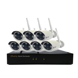宇晨I-Family免配線/免設定960P八路式無線監視系統套裝一機七鏡