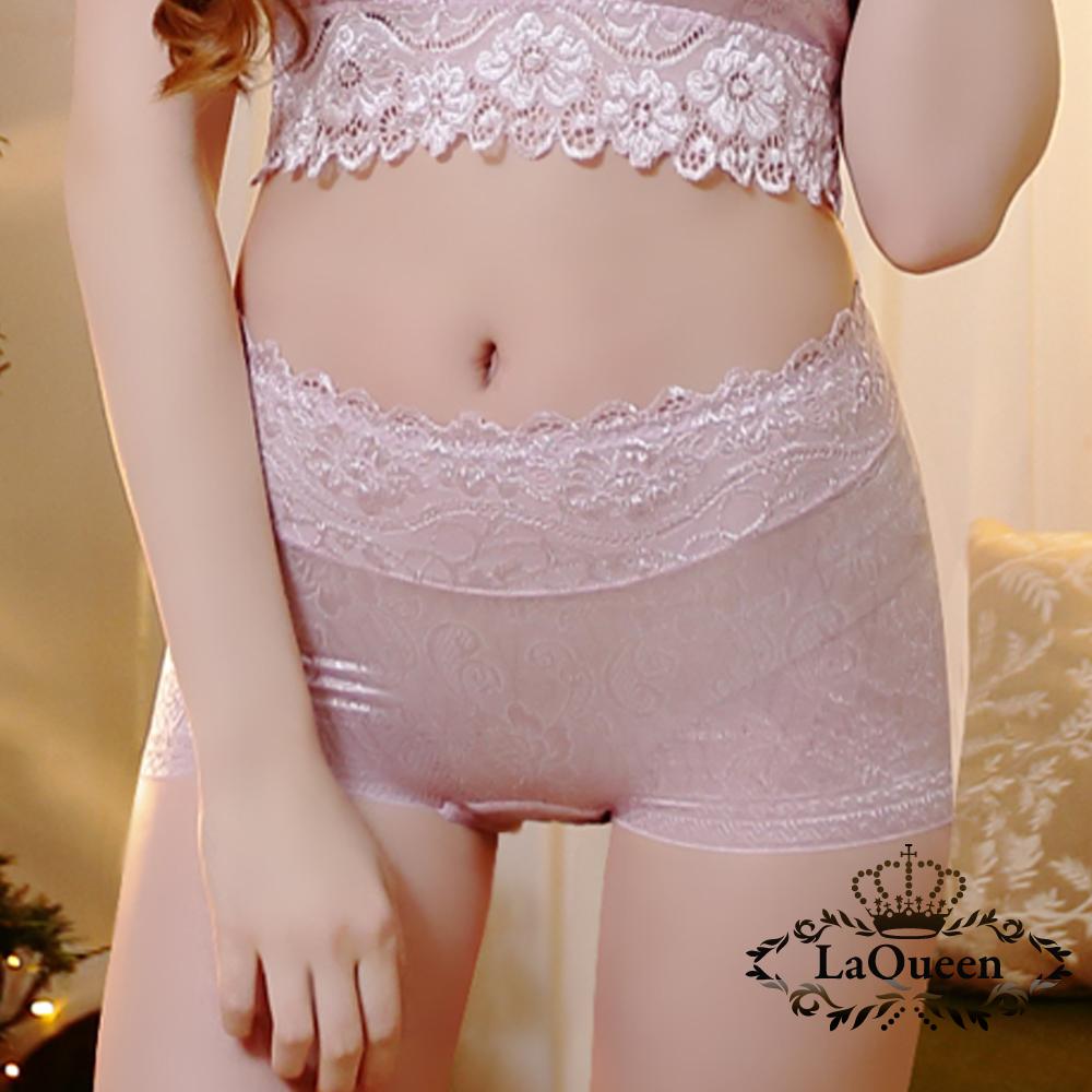 內褲  十字提臀透氣蠶絲內褲-淺紫 La Queen