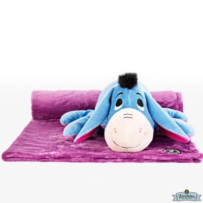 Zoobies 迪士尼Disney Eeyore款 玩偶抱毯/嬰兒毯/毛毯 彌月禮盒