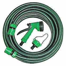 手易坊-10M明綠水管組(附3接頭.4段水槍)(5574-10A)