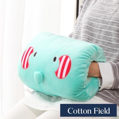 棉花田 小象 可愛造型多功能暖手抱枕
