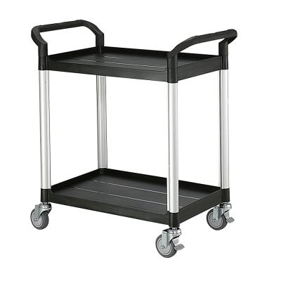 100%台灣製 標準型多功能二層工具餐車/置物架/手推車-經典黑