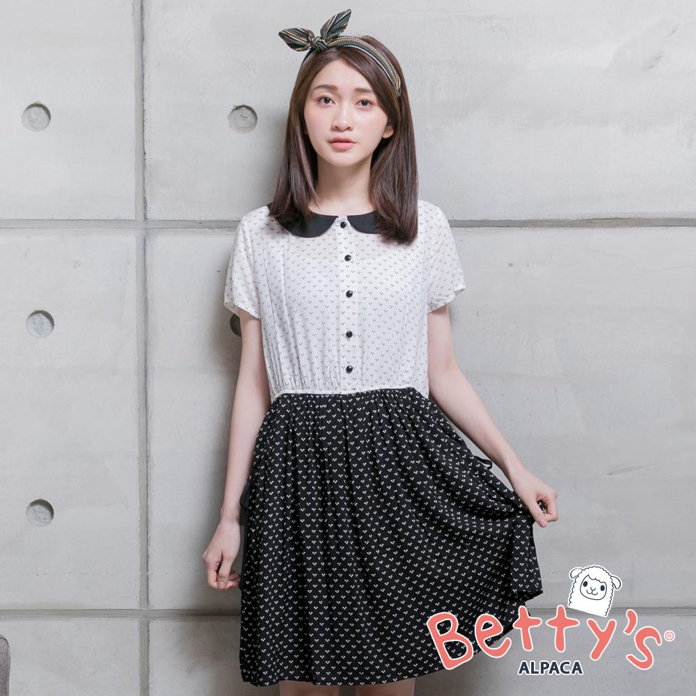 betty's貝蒂思 愛心翻領洋裝(白)