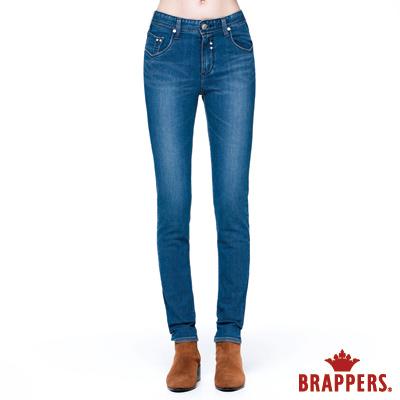 BRAPPERS 女款 新美腳Royal系列-中腰彈性窄管褲-淺藍