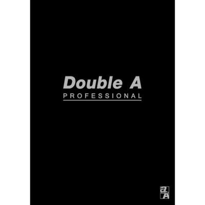 【10入組】Double A B5/18K膠裝筆記本-黑40頁(橫線內頁)
