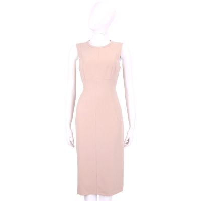 Max Mara 粉色修身裁片設計無袖洋裝