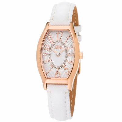 NATURALLY-JOJO-魅力晶鑽時尚腕錶-白