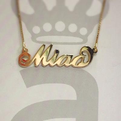 Anna Lou Of London 倫敦品牌 MIAO 英文名字金色項鍊