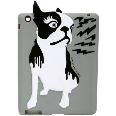 M.B.M.J Olive 鬥牛犬圖案iPad保護套(灰色)