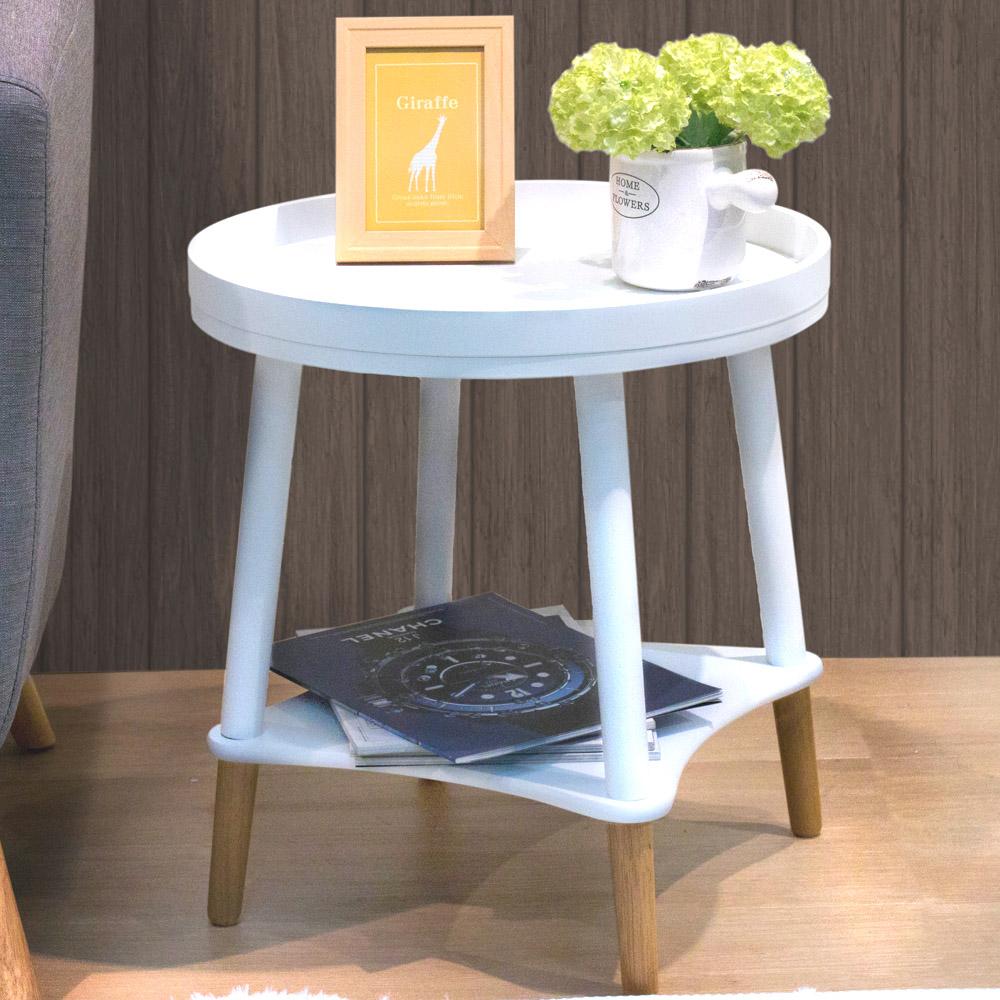 漢妮Hampton泰德圓桌-白色47X47X50cm