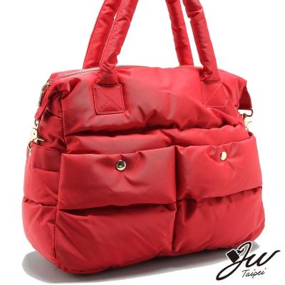 JW-法倫美景雙口袋空氣感手肩側托特包-共五色