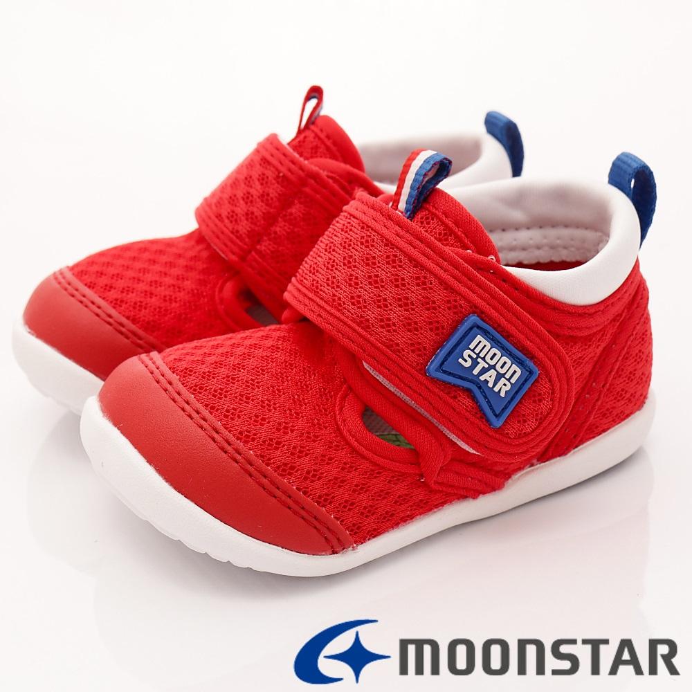 日本月星頂級童鞋-HI系列速乾款-BNI92紅(寶寶段)