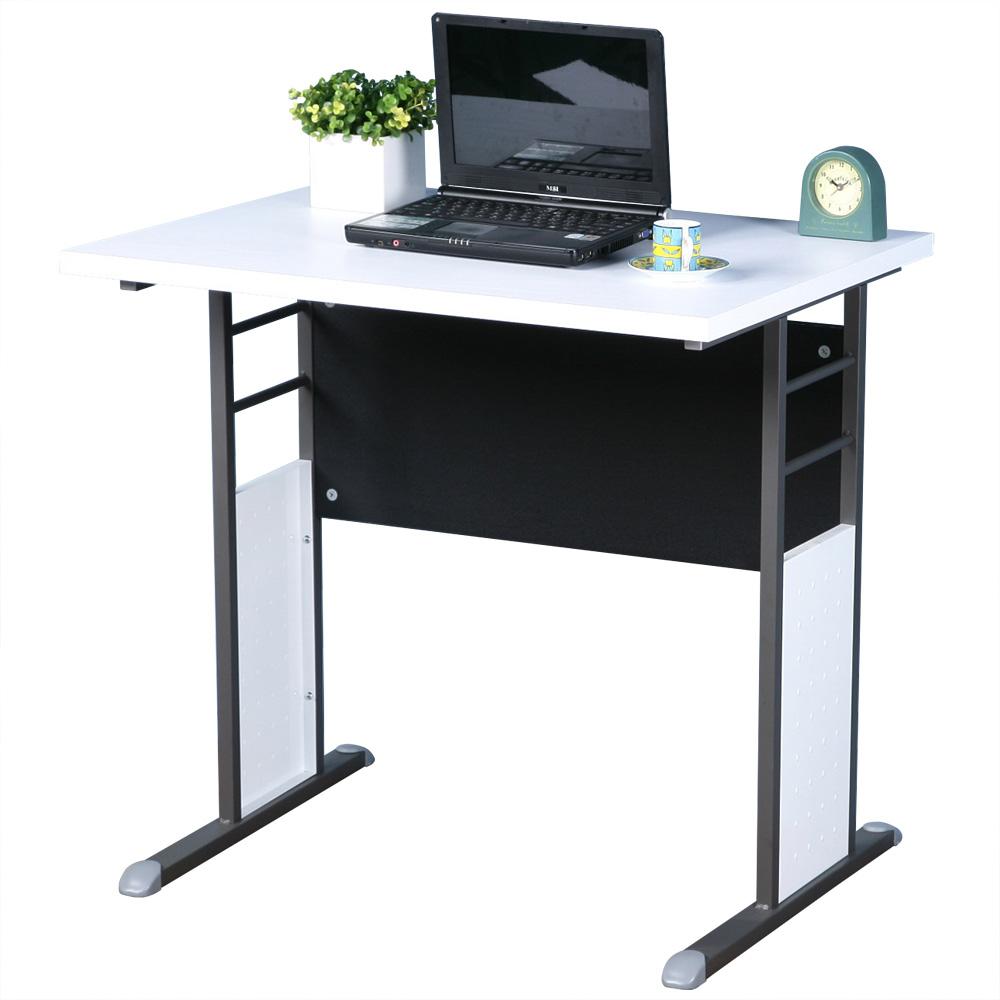 Homelike 巧思80x60辦公桌-白桌面/炫灰桌腳