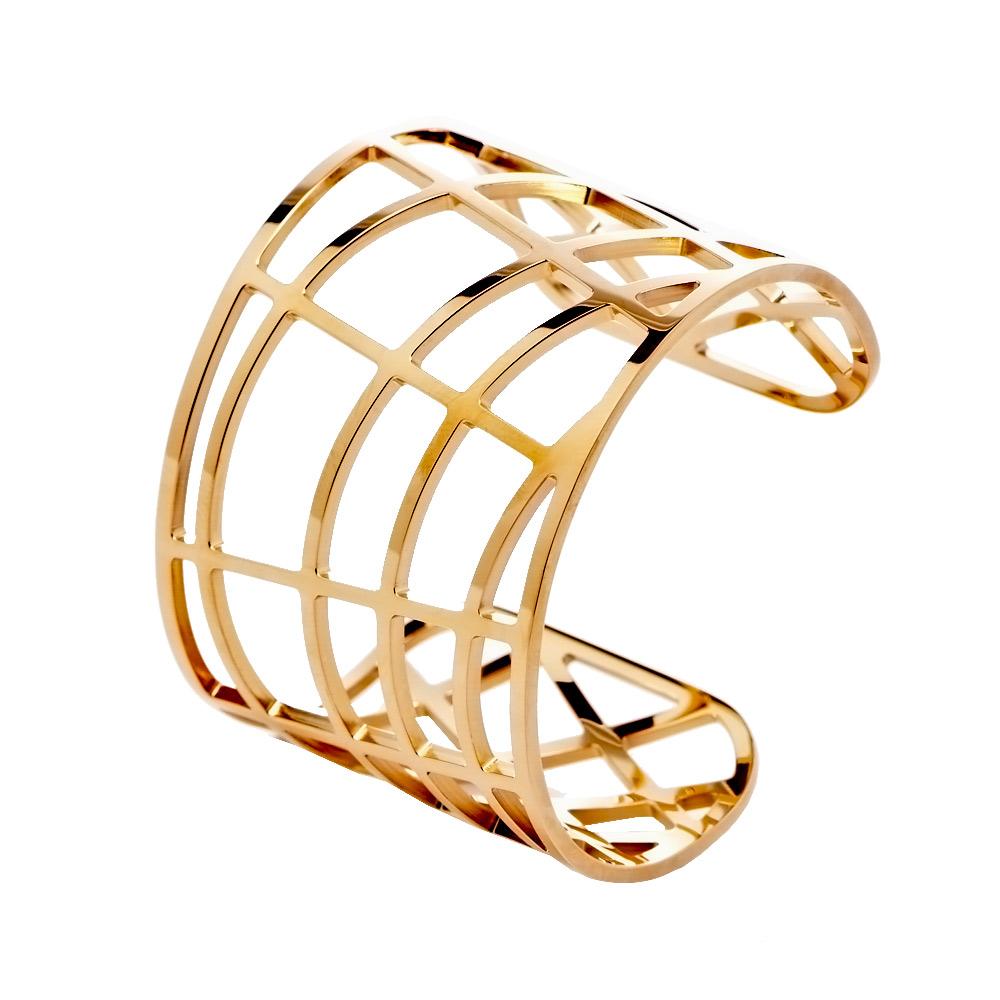 CK Calvin Klein DRAW 優雅玫瑰金縷空手環(KJ1TPF1001)