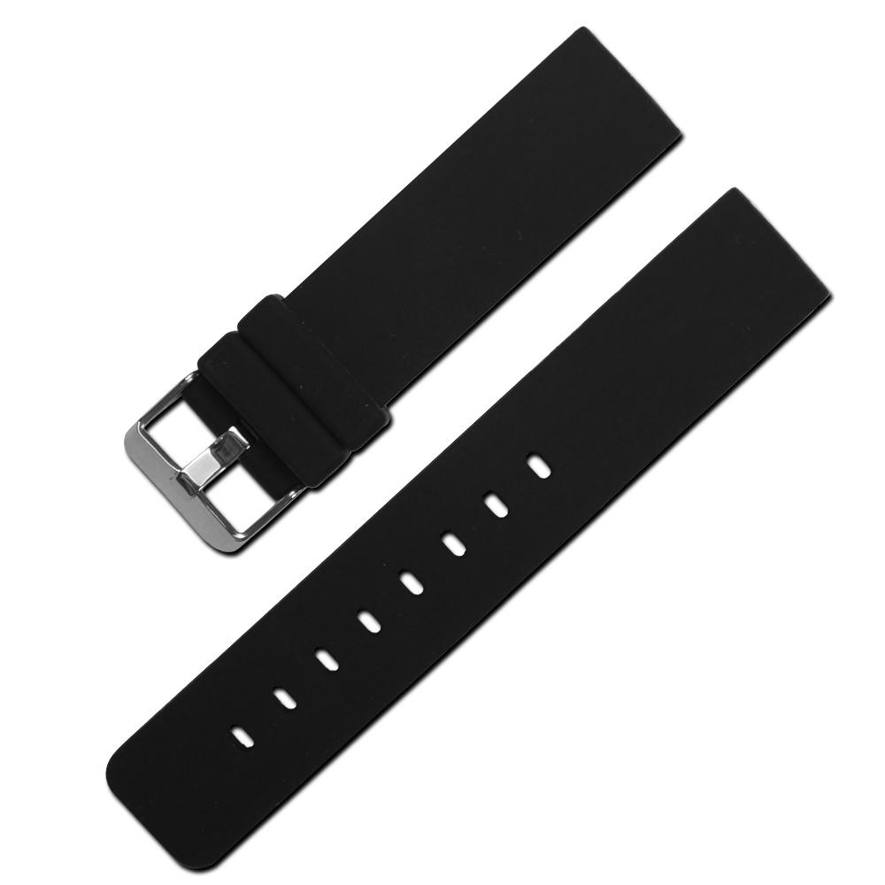 Watchband / 舒適耐用輕便運動型矽膠錶帶 黑色