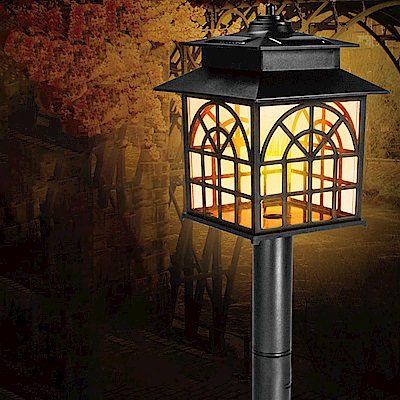 KINYO 太陽能LED庭園燈-黃光(GL-6025)