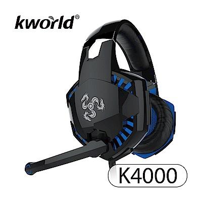 Kworld 廣寰 玩家級電競耳麥 K4000-BB《黑藍》