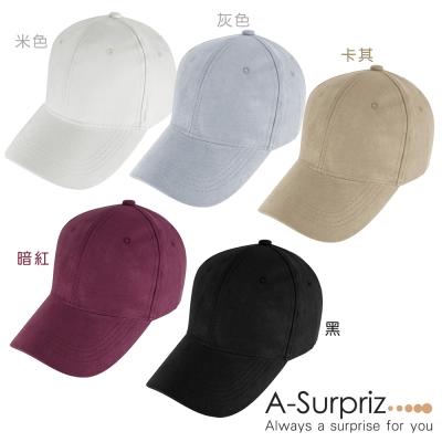 A-Surpriz 仿麂皮糖果色棒球帽(9色選)