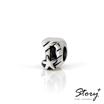 STORY故事銀飾-串珠墜飾-字母珠 D