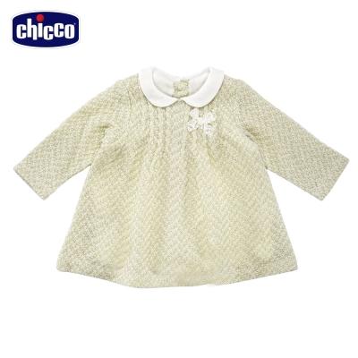 chicco小圓領針織洋裝(12個月-18個月)