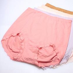 【褲褲嫂專業內褲 】加大高腰立體棉褲(五件入)