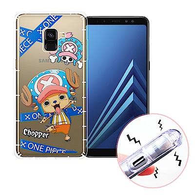 航海王 Samsung Galaxy A8+(2018) 透明軟式空壓殼(封鎖喬...