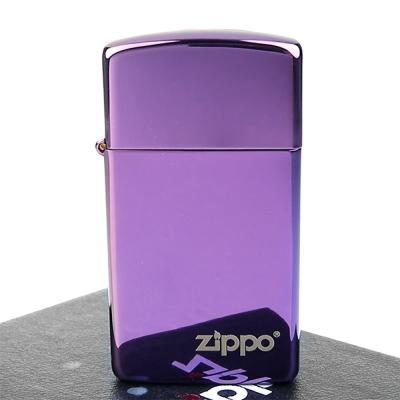 ZIPPO美系-LOGO字樣打火機~超質感Abyss紫色鏡面