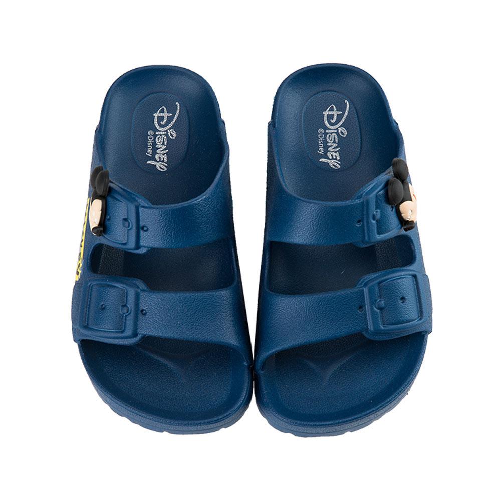 迪士尼童鞋 米奇 立體經典休閒拖鞋-藍