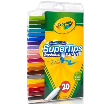 美國crayola 可水洗系列-可水洗20色細桿彩色筆(3Y+)