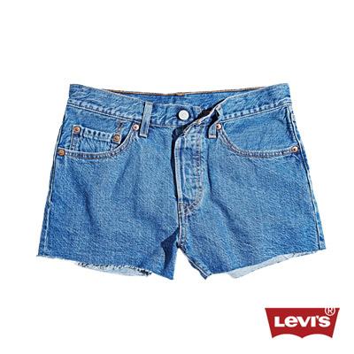 501-排釦丹寧牛仔短褲-不收邊-Levis