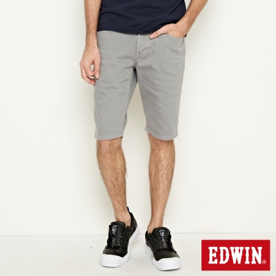 EDWIN 503基本五袋休閒短褲-男-銀灰