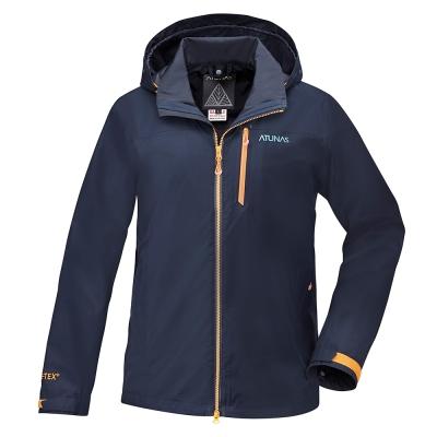 【ATUNAS 歐都納】男款防水GORE-TEX二件式風衣外套A-G1714M藍黑
