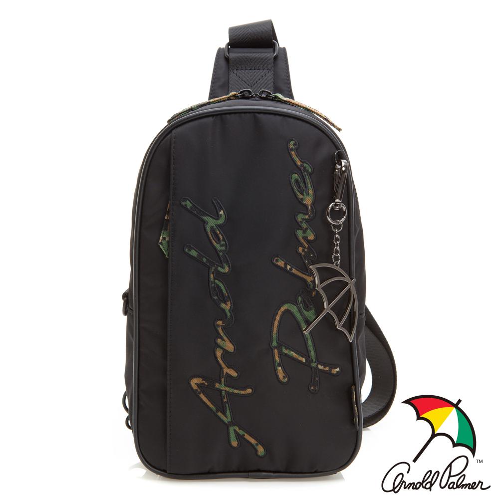 Arnold Palmer- 單肩背包 型格迷彩系列-黑色