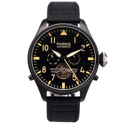 PARNIS 陀飛輪造型 日期 星期顯示 自動機械錶PA3100/50mm