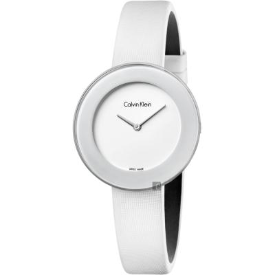 Calvin Klein CK Chic 優雅時尚手錶-白/38mm