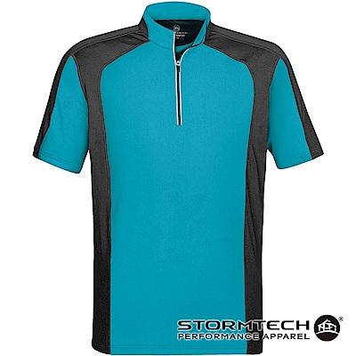 【加拿大STORMTECH】機能吸排防曬拉鍊立領衫IPZ-1-男-淺藍