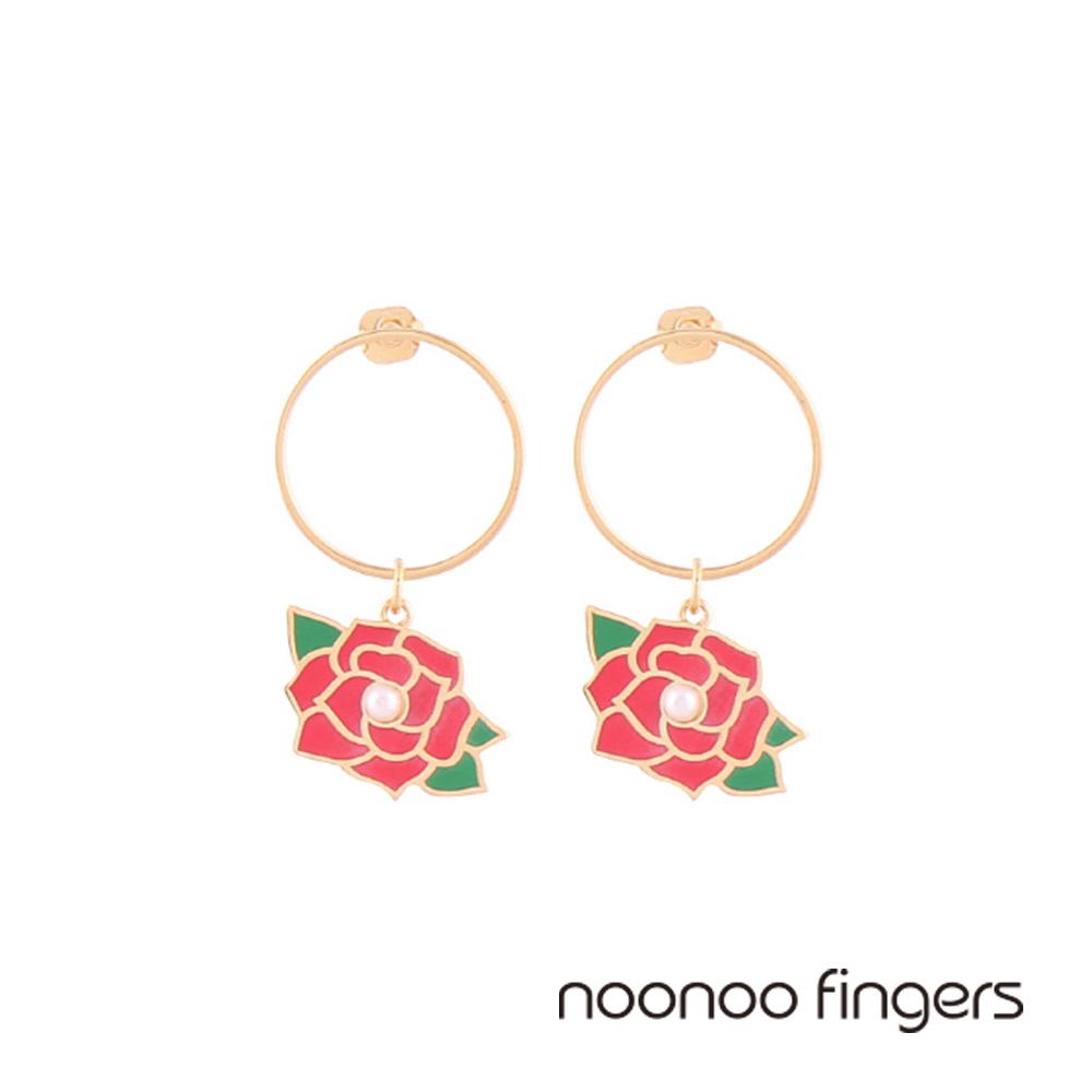 Noonoo Fingers Lavian Rose 凡爾賽玫瑰圈圈耳環