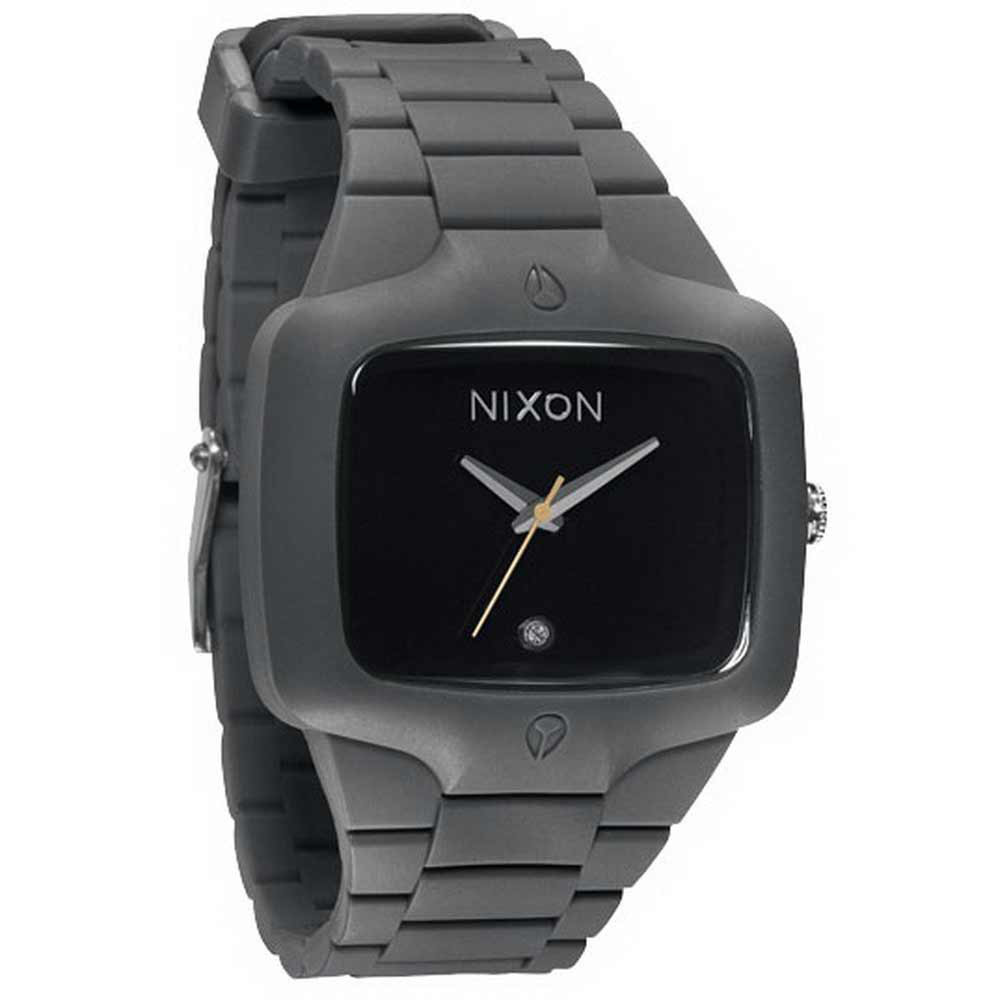 NIXON The Rubber Player鮮色奪人時尚腕-灰帶黃針/45mm product image 1