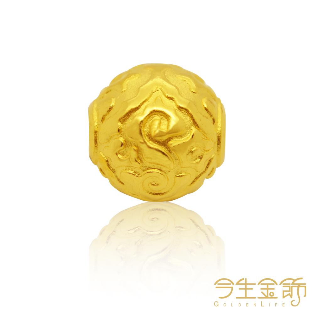今生金飾 家和興旺手環 純黃金串珠手環