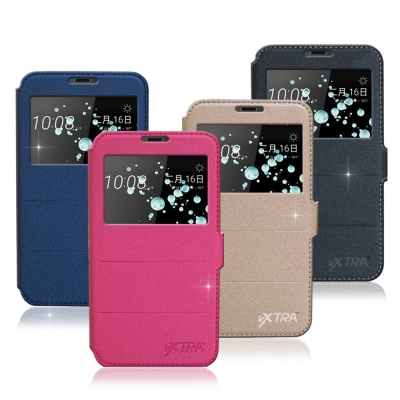VXTRA HTC U Play 5.2吋 經典金莎紋 商務視窗皮套