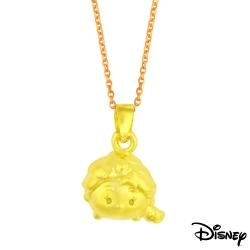 Disney迪士尼金飾 TSUM艾莎黃金墜子 送項鍊