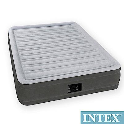 INTEX 豪華型橫條內建電動幫浦充氣床-雙人-寬137cm (67767)