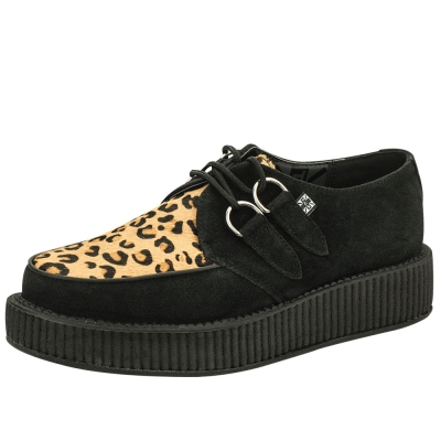 TUK VIVA輕量豹紋龐克鞋-3CM-黑