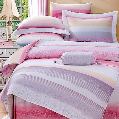 Saint Rose 伊凡莎-粉 加大100%純天絲兩用被套床包四件組