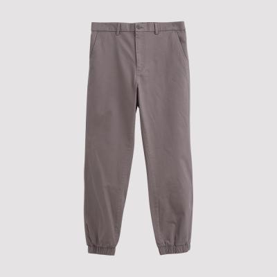 Hang Ten - 男裝 - 基本純色開扣束口褲 - 灰褐