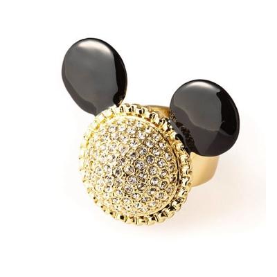 迪士尼 DISNEY COUTURE 米妮系列 水鑽米妮 金色戒指