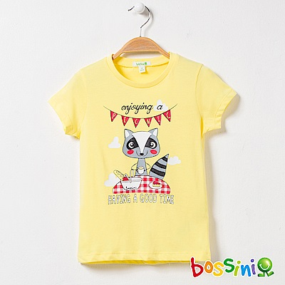 bossini女童-印花短袖T恤18亮黃
